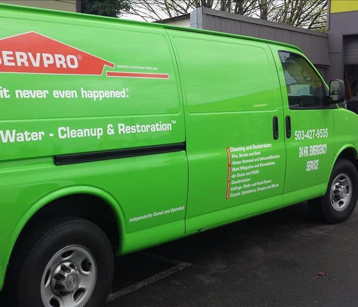 SERVPRO of Southeast Portland Water Extraction Mounted Vans