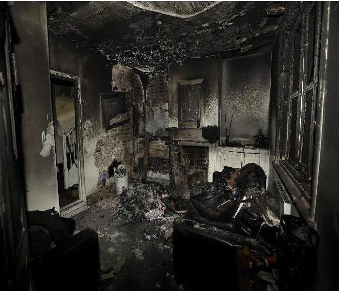 Room that is burnt